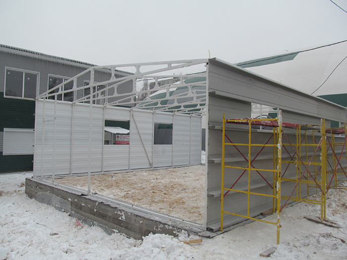 Каркасные гаражи из металла